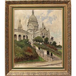 Antique Sacre Coeur, Paris 1900s Oil Painting