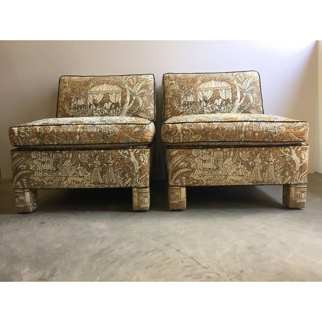 Image of Vintage Billy Baldwin Club Lounge Chairs - A Pair