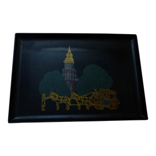 Couroc Victorian Stage Coach Tray