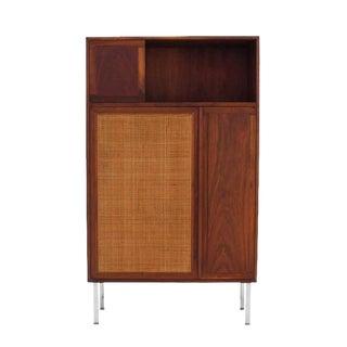 Walnut Cabinet with Cane Door