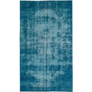 "Vintage Turkish Overdyed Rug- 5'1"" x 8'10"""