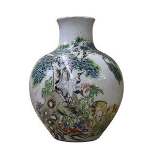 Chinese Oriental Graphic Ceramic Vase