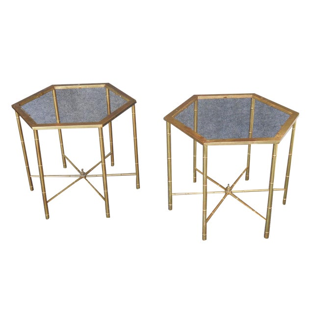 Brass Side Tables by Mastercraft - Pair - Image 1 of 7