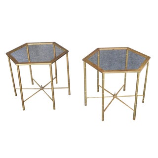 Brass Side Tables by Mastercraft - Pair