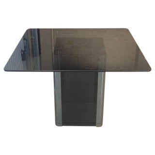 Pace Collection Smoked Glass & Chrome Table