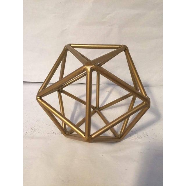 Gold Metal Geometric Decor Piece - Image 3 of 5
