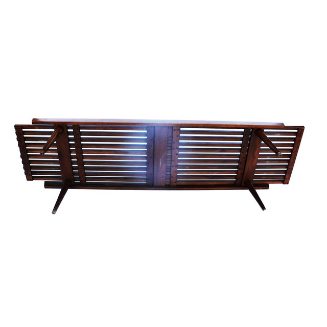 Nelson Herman Miller Style Slatted Wood Bench - Image 3 of 7