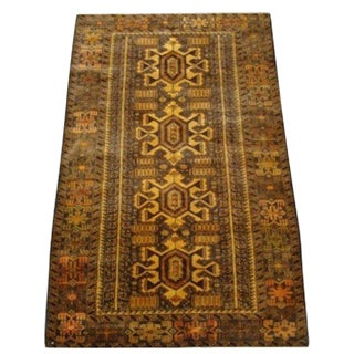 "100% Wool Tribal Rug - 3' 8"" X 5' 10"""