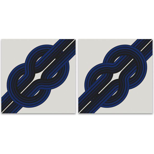 """Tie the """"Knot"""" Large Vintage 1970 Prints - A Pair - Image 1 of 8"""