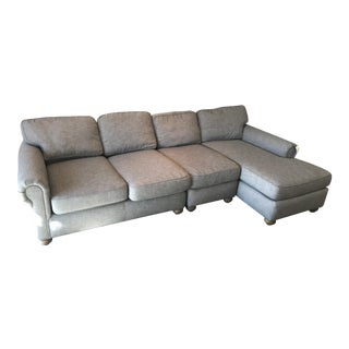 Restoration Hardware Gray Lancaster Sectional Sofa