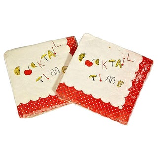 Vintage 1950s Cocktail Napkins - Set of 50