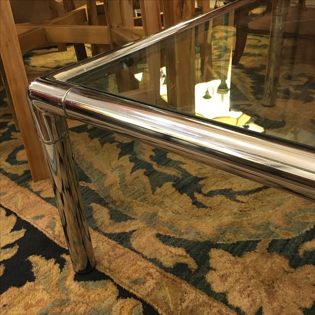 Chrome & Glass Square Coffee Table - Image 6 of 6