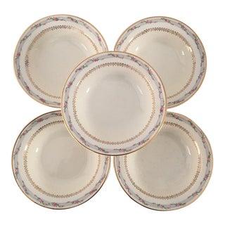 Vintage Floral Berry Dessert Bowls - Set of 5