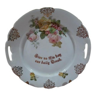 "Porcelain ""Lord Give Us This Day Our Daily Bread"" Decorative Plate"