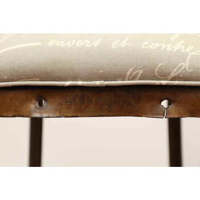 French Upholstered Industrial Stool - Image 3 of 5