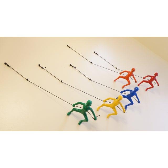 Multi-Colored Climbing Man Wall Art - Set of 5 - Image 4 of 6