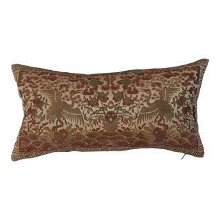 Hollywood Regency Gold Asian Chinoiserie Boudoir Pillow