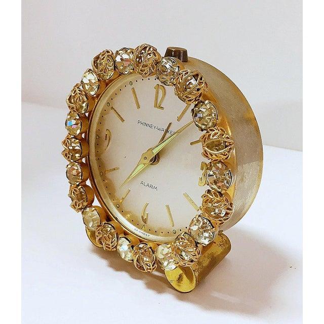 Image of 1930s Vintage Phinney-Walker Bejeweled Alarm Clock