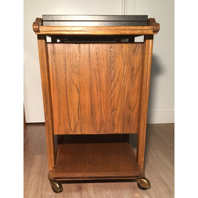 Mid-Century A. Brandt Ranch Oak Serving Cart - Image 6 of 10