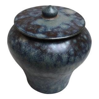 Blue Glazed Ginger Jar