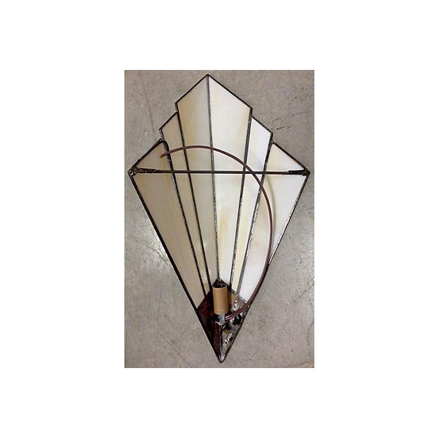 Image of Art Deco Style Sconces - A Pair