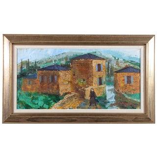 "Bertil Wahlberg ""Bologna"" Oil Painting"
