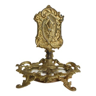 Antique French Gilt Metal Match Holder