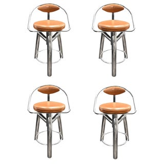 A set of 4 Vintage stools