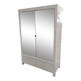 Ebbett Design & Associates White Mirrored Armoire