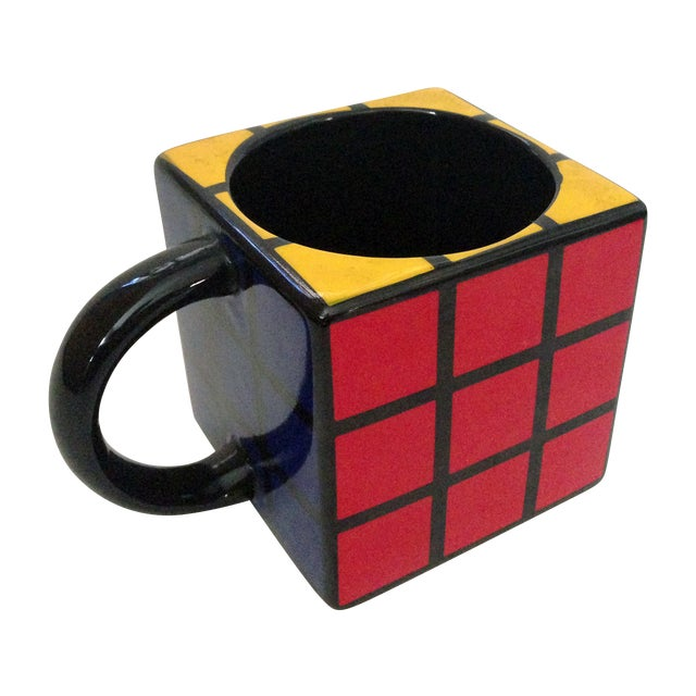 Spinning Retro Rubik's Cube Ceramic Mug - Image 1 of 7