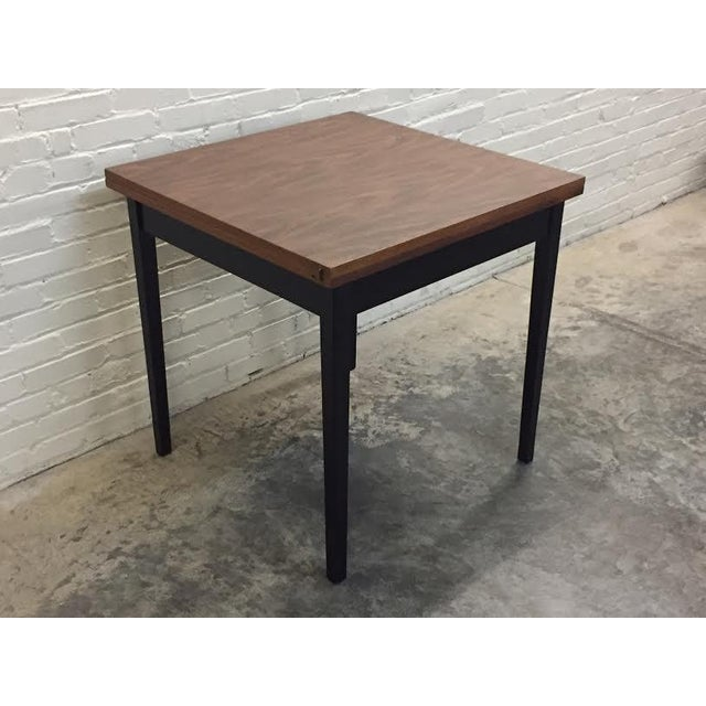 Mid-Century Modern Folding Top Dining/Card Table - Image 4 of 7