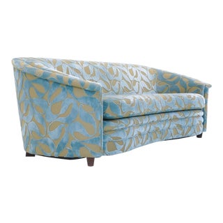 Dunbar Style Curved Sofa, Beautifully Redone