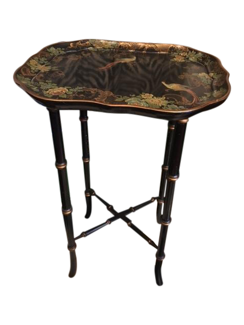 Image of Small Chinoiserie Side Table