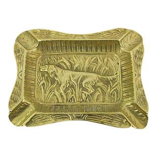 French Brass Hound Ashtray