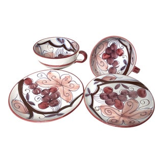 Vintage Hand Painted Soup & Salad Dishes - Set of 4
