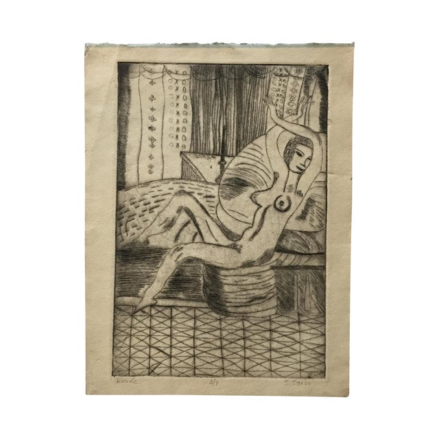 """Lithograph """"Renee"""" by S.Szabo - Image 1 of 10"""