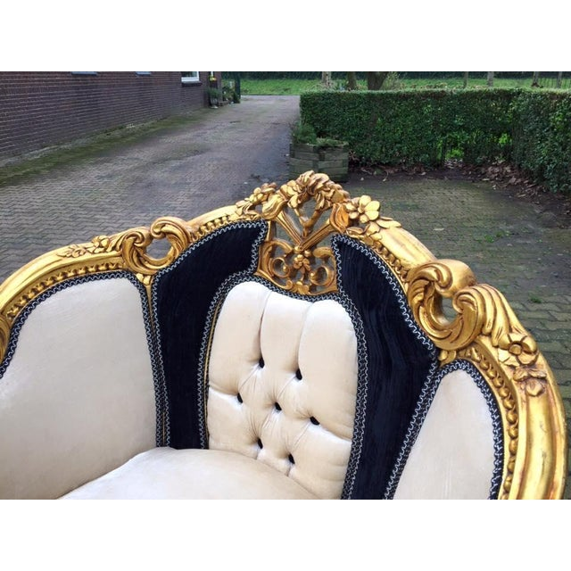 Antique Black & White Louis XVI Chairs - a Pair - Image 4 of 7