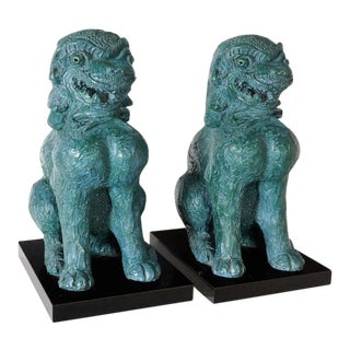 Blue Fu Dogs - A Pair