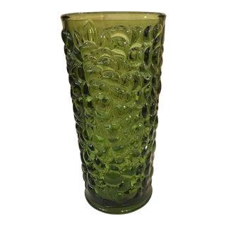 Mid-Century Modern Green Grape Motif Vase