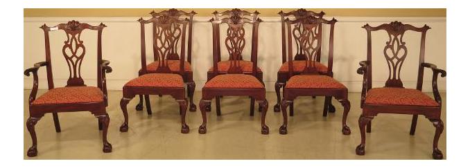 43475e Henkel Harris #112 Ball U0026 Claw Mahogany Dining Room Chairs   Set ...