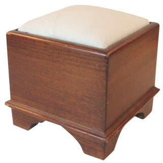 Vintage American Wood Foot Stool