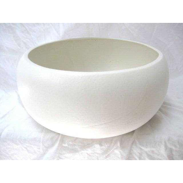 Image of White Mid-Century Planter Bowl