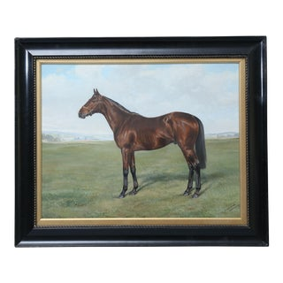Equestrian Oil Painting Race Horse 'Midas' by Richard Ansconb