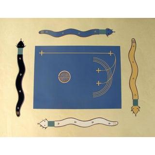Navajo War Ceremonial Big Snake Pochoir Print