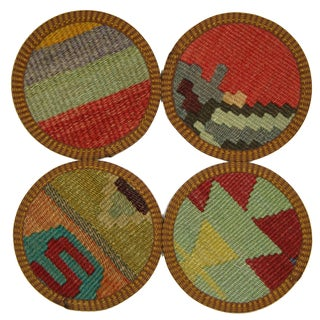 Turkish Kilim Coasters, Malatya - Set of Four