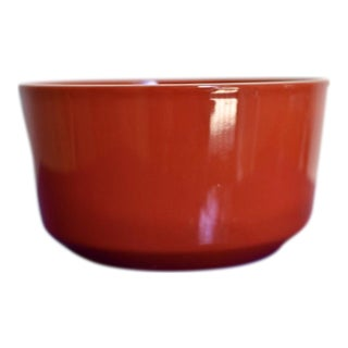 Red Bowl With White Rim