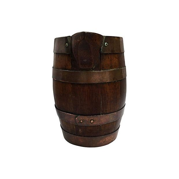 French Rustic Brass & Wood Pitcher - Image 3 of 4