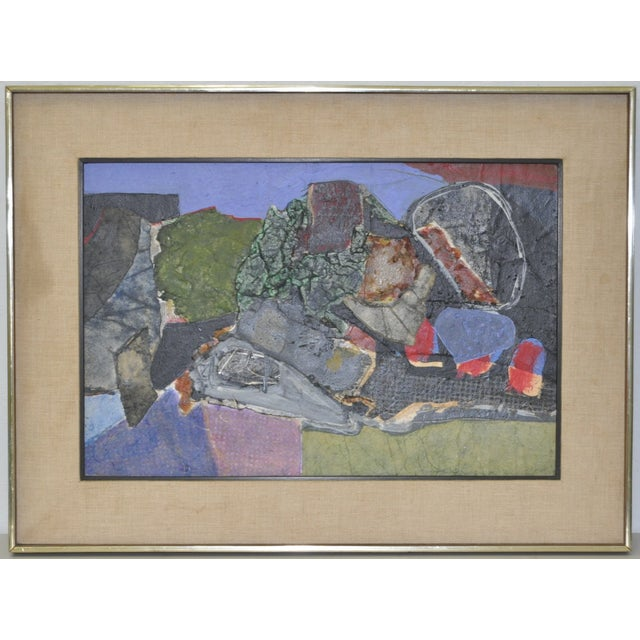 James Grant (1924–1997) Mixed Media Abstract 1963 - Image 2 of 6