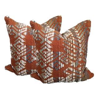Russet Tribal Pillows - A Pair