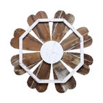 Image of Rustic White Barn Wood Flower Wall Art